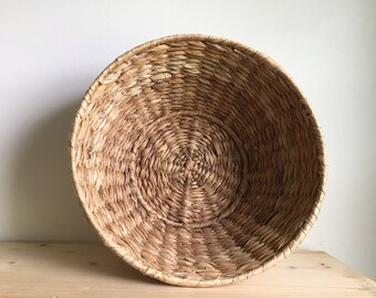 Vintage woven fruit bowl