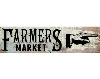 Digital Download Vintage Farmers Market Illustration Transfer Wood Sign Clip Art; 1059
