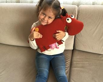 Stuffed toy, Hippopotamus, stuffed animal toy, plush animal, toddler gift, soft kids toy, toddler toy, gift for kids, plushie