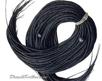 Set DE classic Smooth Synthetic Dreads Black Queen