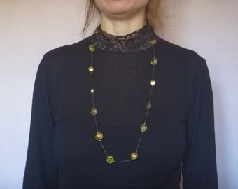long necklace with beads, vintage necklace