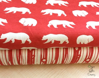 Bear Camp Coral Collection - Birch Fabrics - Knit Fat Quarter, Half Yard, or By the Yard Bundle