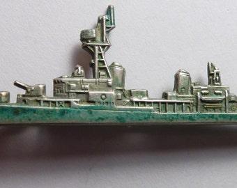 USS Gearing - DD 710 - USN - U.S. Navy Destroyer - Vintage Pin/Brooch