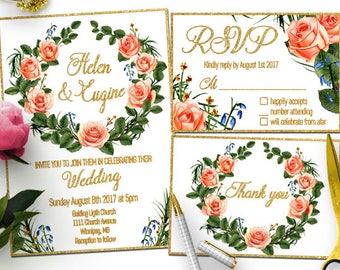 Unique Wedding Invitation, Printable Wedding Invitation, Elegant Wedding Invitations, Simple Wedding Invitation, Modern Wedding Invitation