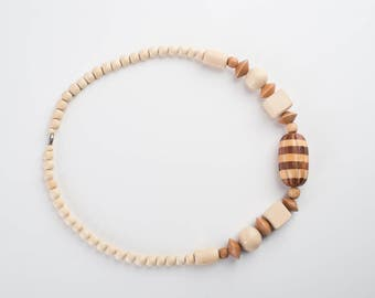 Vintage Wood beaded necklace
