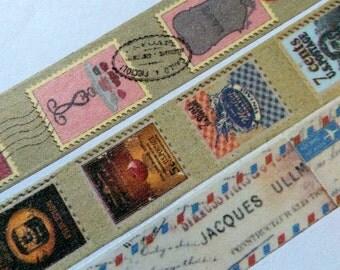 Vintage Postage Stamp/Letter/Travel Washi Tape SAMPLE