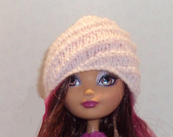Hand knit Spiral Hat for Ever After High Doll