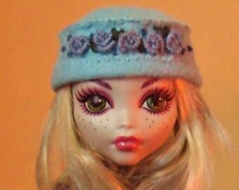 Hand sewn felt hat for Monster High Doll