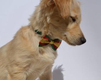 Christmas bow, dog bow tie, collar