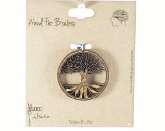 Tree of Life - Laser Cut Wooden Pendant