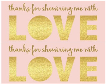 Showered with Love Baby Shower Favor - PINK / WHITE