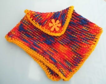 Beautiful Hand Knitted Dolls Poncho.