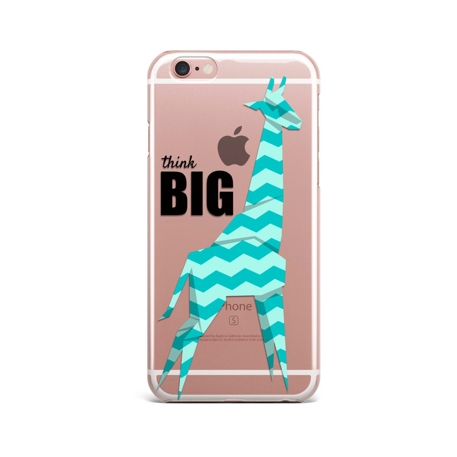 Think BIG, iPhone 7 Case QUOTE iPhone 6S case clear,iPhone