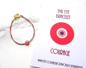 Red string evil eye bracelet, kaballah bracelet, protection bracelet, wish bracelet,evil eye jewelry, simple everyday bracelet