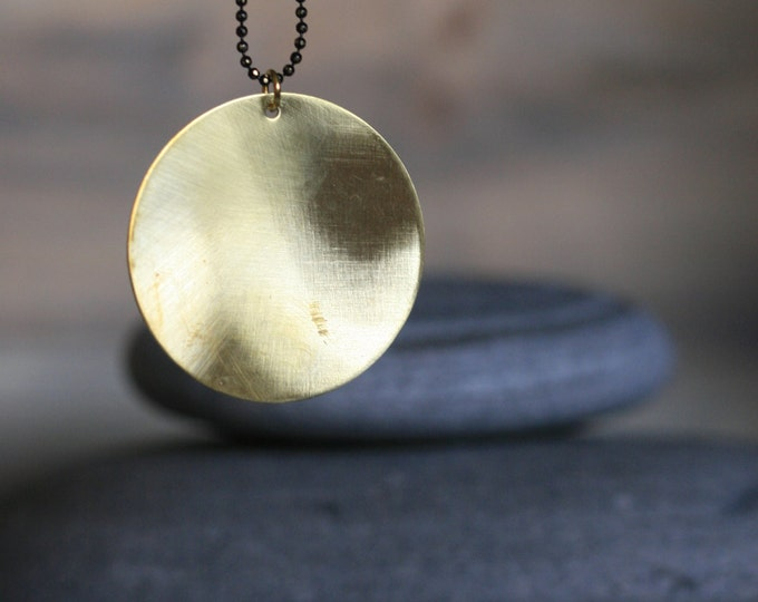 Architectural Brass Circle Necklace | Minimalist | Geometric