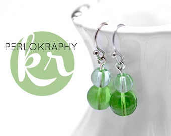 Earrings ~ colorful glass ~ green | Purple | Turquoise | Red | Yellow