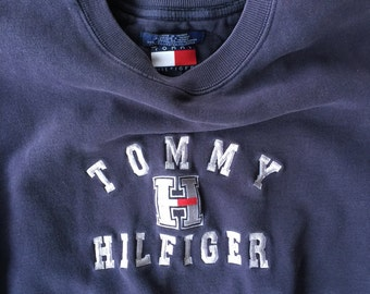 Tommy distressed Large (fits) sweatshirt