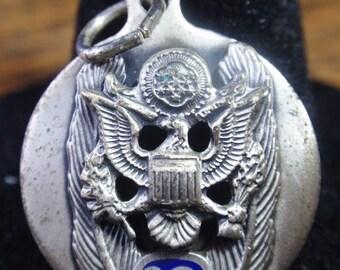 Sterling US Military Eagle Crest Medal/Charm