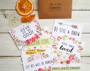Bible verse cards, Christian gift, encouragement card, encouragement gift, gift card, card sets, christian motivation, scripture art, you lo