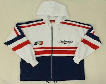 Budweiser Sport Track Jacket Hoodie Budweiser Hoodie Budweiser Track Top Budweiser Jacket