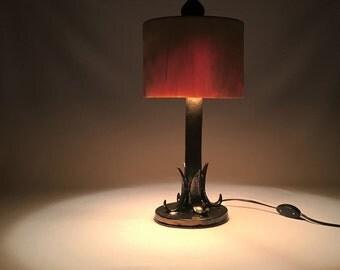 Table Desk lamp, Transparent wood table lamp, Ceramics table lamp