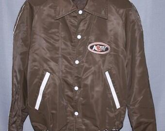 Vintage A&W Light Bomber Jacket !