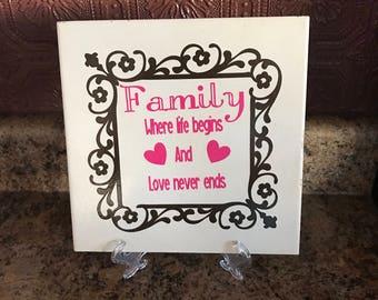 Family tile