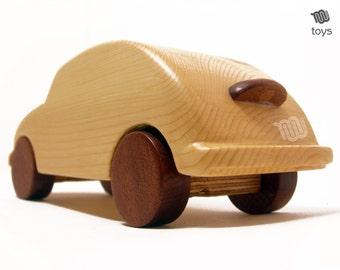 Volkswagen Beetle wood toy