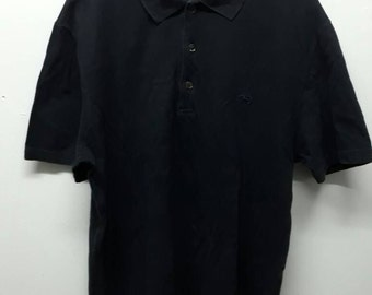 Crazy sale!!! Vintage Salvatore Ferragamo polo shirt black made in italy