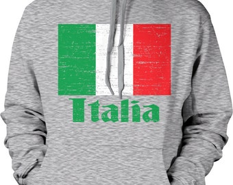 Flag of Italy, Italian Flag, il Tricolore Pride Hooded Sweatshirt, NOFO_00058