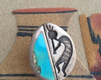 Silver Kokopelli Hopi Ring