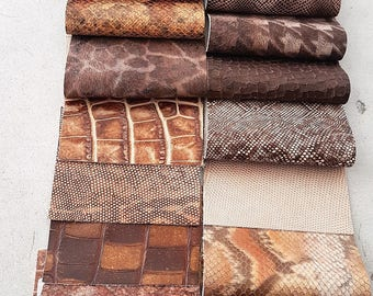 Leather 20 pieces of our fancy stock collections, 12 cm x 15 cm (4,72 x 5,91 inch)