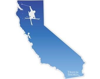 California Skiing Decal