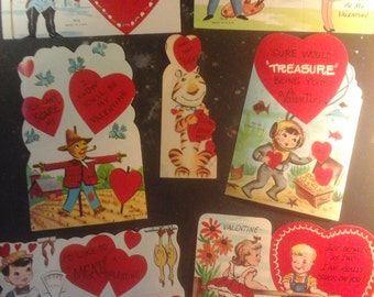 7 Vintage Valentine Cards