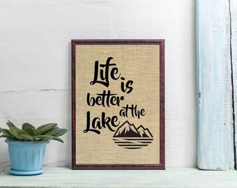 Lake House Décor, Cabin Wall Art, Outdoorsman Housewarming Gift, Cabin Home Decor, Lake-Lovers Wall Print, Fisherman's Wall Decor, SBP058