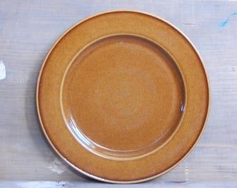 Scandinavian Vintage Höganäs Keramik Brown Plate Hoganas Ceramic Dinner Plate Stoneware
