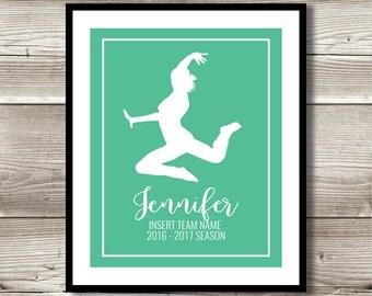 Dance Art, Dance Gift, Personalized Dance Print, Dance Wall Art, Dance Team Gift, Digital Print, Dancer