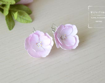 Sakura Earrings Flower earrings Gift for her sakura flowers bridal jewelry Cherry blossom jewelry Pink earrings for girls Pink wedding