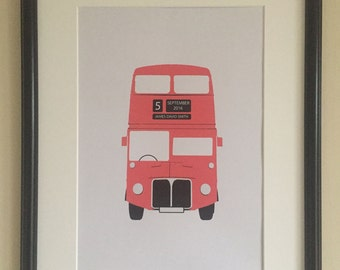 Personalised Double Decker Bus print