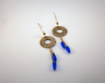 Hortense bronze handmade earrings