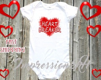 Heart Breaker baby shirt
