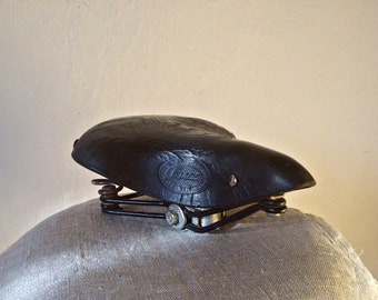 Vintage LEPPER bicycle saddle, Genuine leather bike saddle, Wide saddle, Bicycle chair, Hipster bicycle saddle, Bike accessories