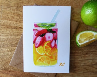 Greeting Card 'Tutti Frutti', Blank Card, Summer Fruit, Happy Birthday, Just Because, Thank You