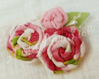 Eleanor's Flannel Rose Trio Flower Piece