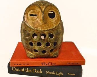 Vintage Ceramic Winking Owl Tea Lite Holder