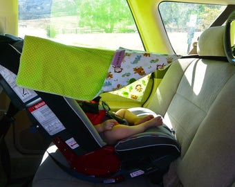 car seat sun shade etsy. Black Bedroom Furniture Sets. Home Design Ideas