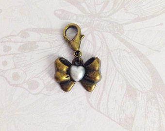 Charm cute bow bronze