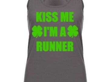 Running tank ~ kiss me i'm a runner