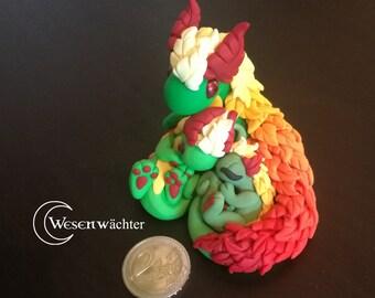 Handmade Dragon Larana with children