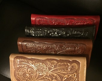 Women's Genuine Leather Clutch Embossed wallet